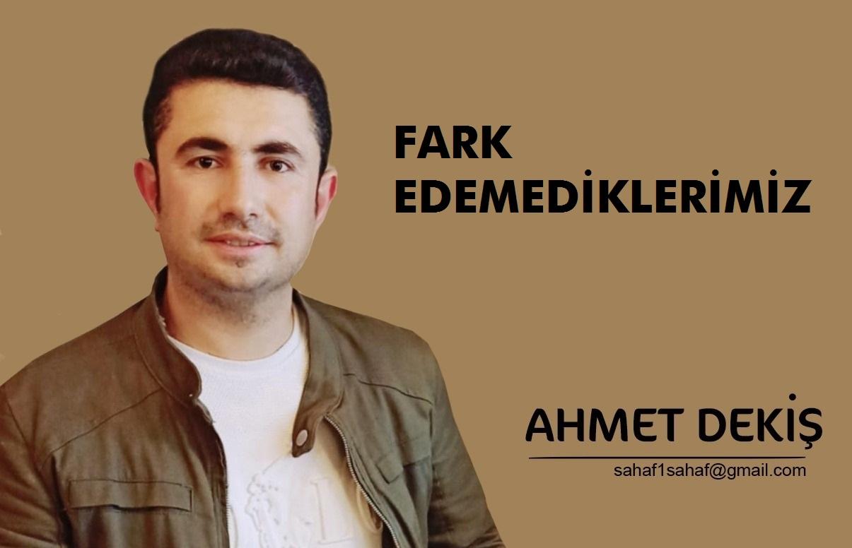 Ahmet Dekiş; Fark edemediklerimiz