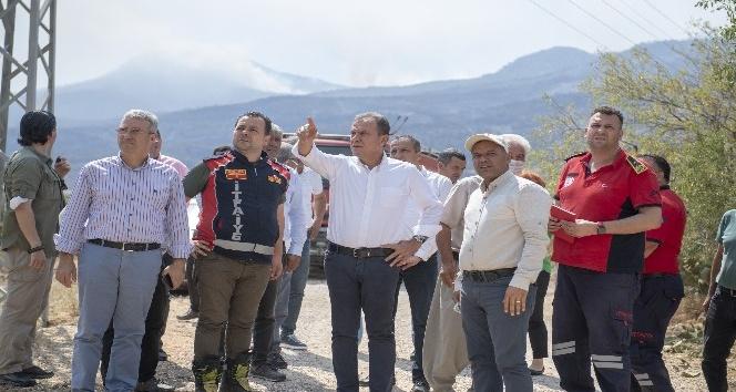 Başkan Seçer, yangın bölgesinde incelemelerde bulundu