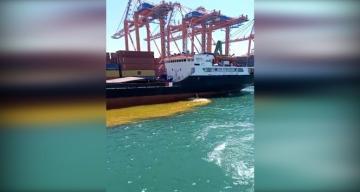 Denizi Kirleten Gemiye 1 milyon 355 bin TL'lik ceza